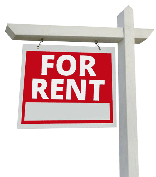 Apartment For Rent Sign: Contact Oak Realty: Rentals